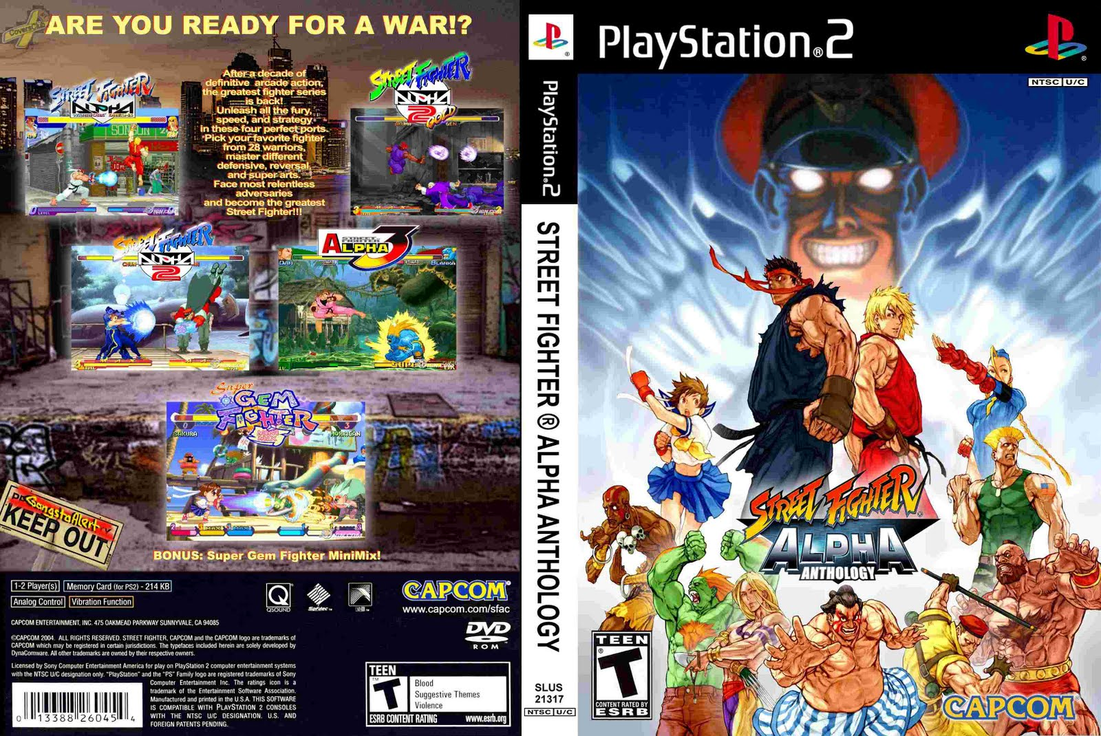 STREET FIGHTER ALPHA ANTOLOGY
